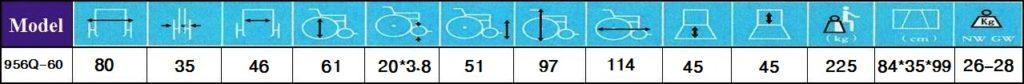 مشخصات ویلچر سنگین وزن 956