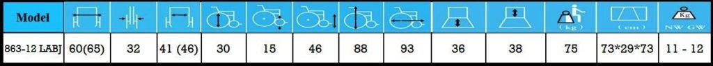 مشخصات ویلچر حمل بیمار 863