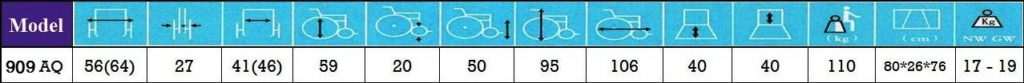 مشخصات ویلچر ارتوپدی 909