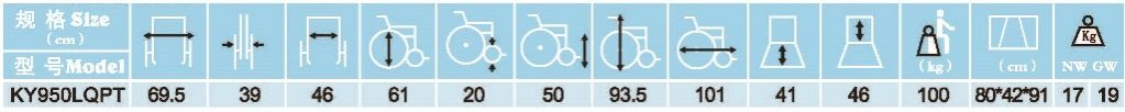 مشخصات ویلچر دبل هندرینگ 950